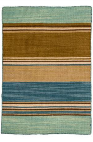 Flatweave 2X3 Blue Wool Area Rug