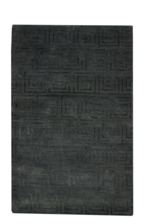 Contemporary Nepal 4X6 Blue Wool Area Rug
