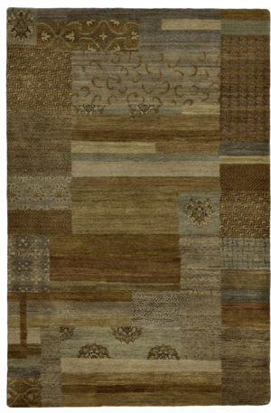 Contemporary 4X6 Brown Wool Area Rug