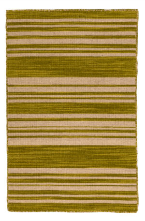 Flatweave 2X3 Green Wool Area Rug