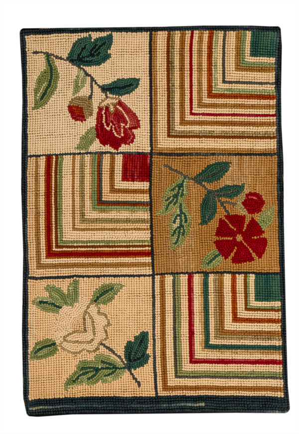 Hooked 2X3 Multi Color Cotton Area Rug