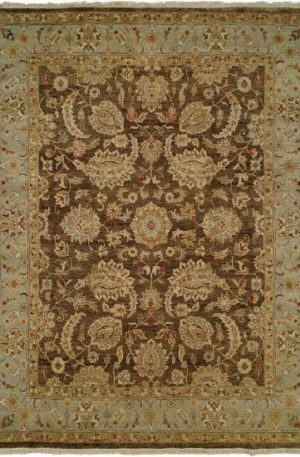 Emperor Collection 6X9 Brown Wool Area Rug