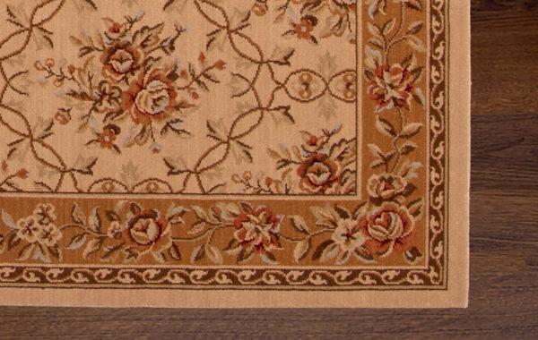 Chinese 5X8 Beige Wool Area Rug