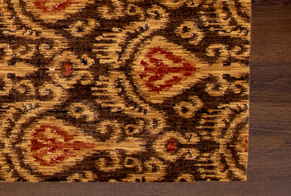 Transitional 5X8 Beige Synthetic Area Rug