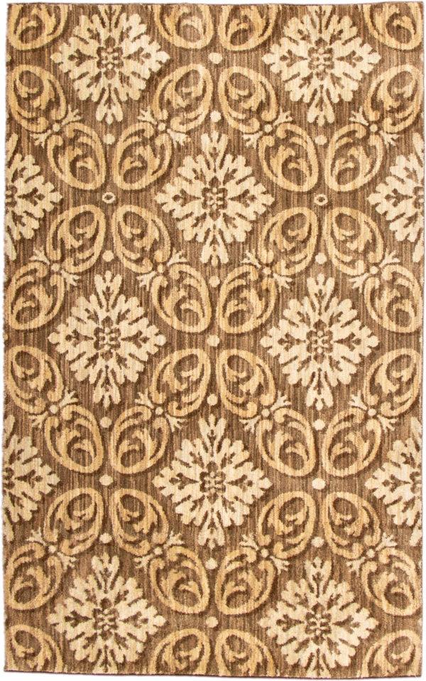 Contemporary 5X8 Brown Area Rug