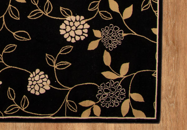 Contemporary 5X8 Black Area Rug
