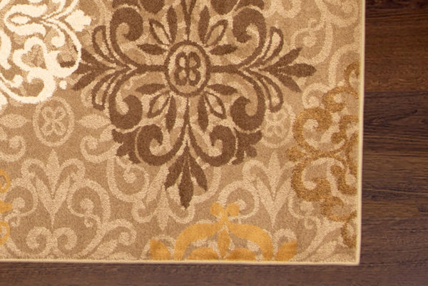 Transitional 5X8 Beige Brown Area Rug