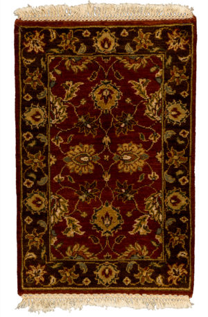 2X3 Red Wool Area Rug