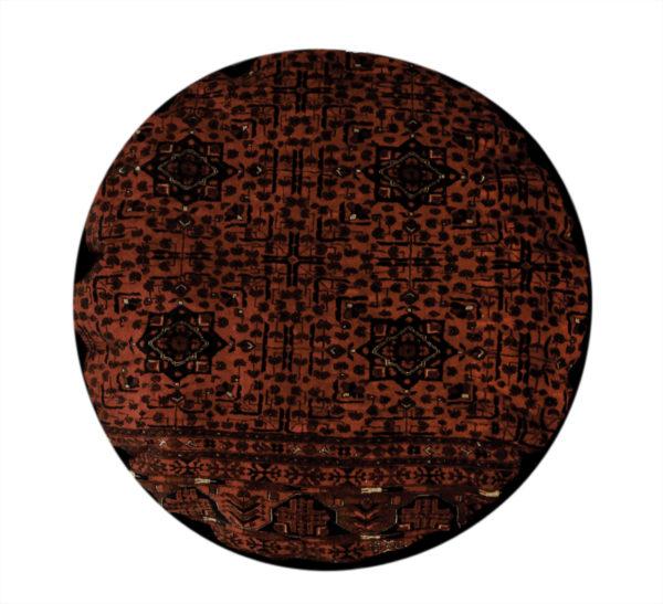 Geometric 4X6 Red Wool Pillow