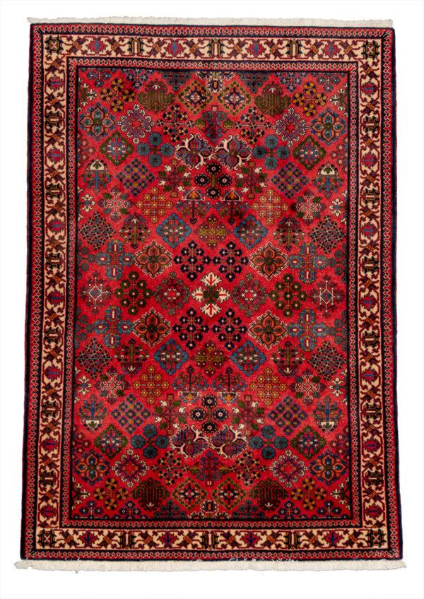 Persian Meymeh 4X6 Red Wool Area Rug