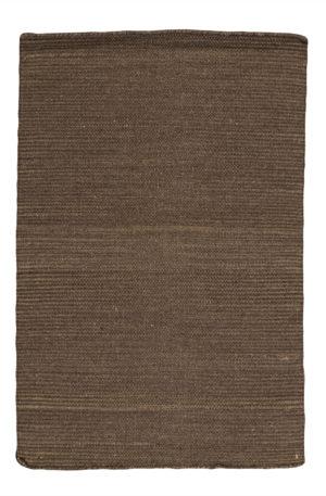 Flatweave Contemporary 2X3 Gray Wool Area Rug