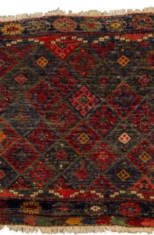 Antique Persian 2X3 Multi Color Wool Area Rug