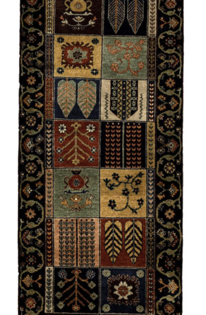 Traditional Runner Multi Color Wool Area Rug