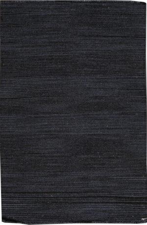 Flatweave Contemporary 2X3 Black Wool Area Rug