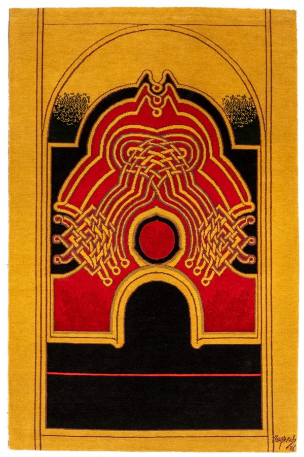 Art Rug Nepal 4X6 Multi Color Wool Area Rug