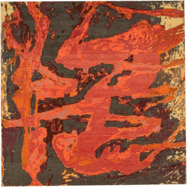 Art Rug Nepal 6X9 Red Wool Area Rug