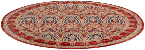 Arts & Crafts 8X10 Red Red Wool Area Rug