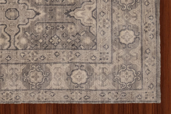 6X9 Gray Wool Area Rug