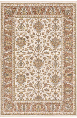 Prince Collection 5x8 Ivory Transitional Area Rug