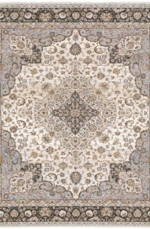 Prince Collection 5x8 Grey Transitional Area Rug