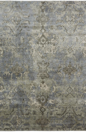 Milan Collection 4X6 Blue Area Rug