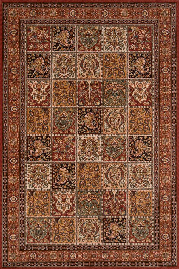 Traditional 8X10 Multi Color Wool Area Rug