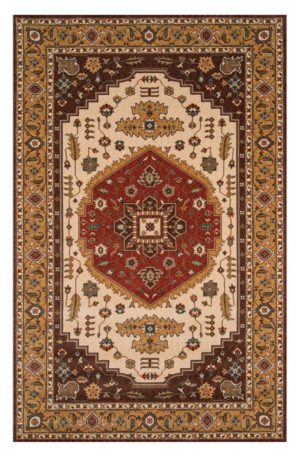Traditional 4X6 Brown Wool Area Rug