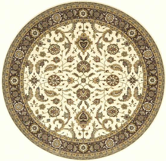 Traditional 4X6 Ivory Wool Area Rug