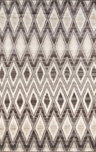 Tribal 5X8 Natural Colored Wool Area Rug