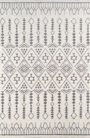Celestial Collection 5x8 Ivory Tribal Area Rug