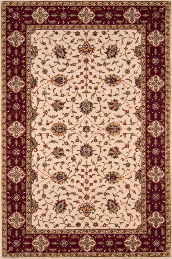Traditional 3X5 Ivory Wool Area Rug