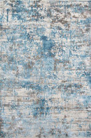 Julia Collection 5X8 Blue Contemporary Area Rug