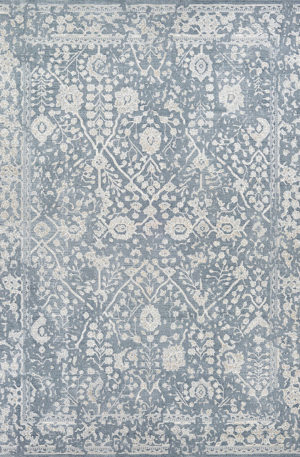 Harbor Collection 2X3 Blue Transitional Area Rug