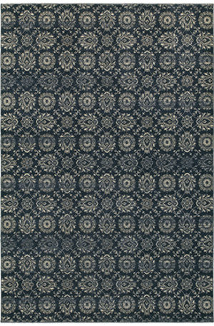 London Collection 5x8 Blue/Grey Area Rug