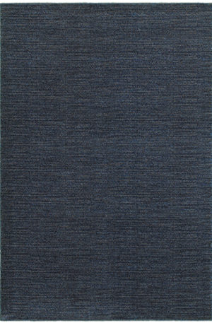 Contemporary 5X8 Blue Synthetic Area Rug