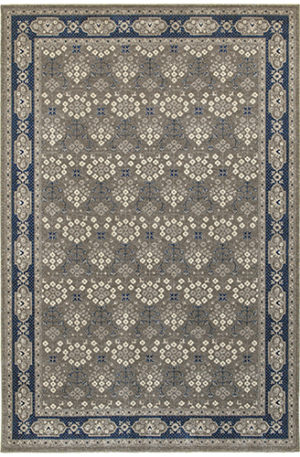London Collection 5X8 Blue Transitional Area Rug