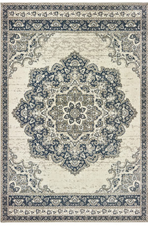 London Collection 5x8 Ivory Transitional Area Rug