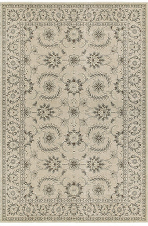 Transitional 5X8 Ivory Ivory Synthetic Area Rug