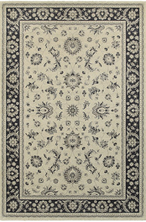 London Collection 8X10 Ivory Transitional Area Rug