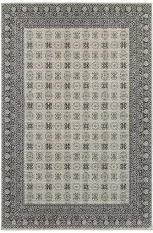 London Collection 5X8 Ivory Red Transitional Design Area Rug