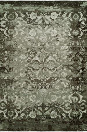 Vista Collection 4X6 Wool & Silkette Area Rug