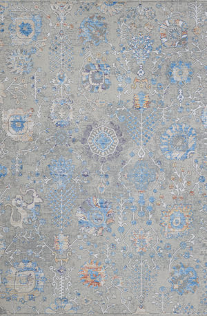 Arpeggio Collection 4x6 Pewter Transitional Rug