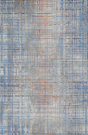 Arpeggio Collection 4x6 Grey Contemporary Area Rug