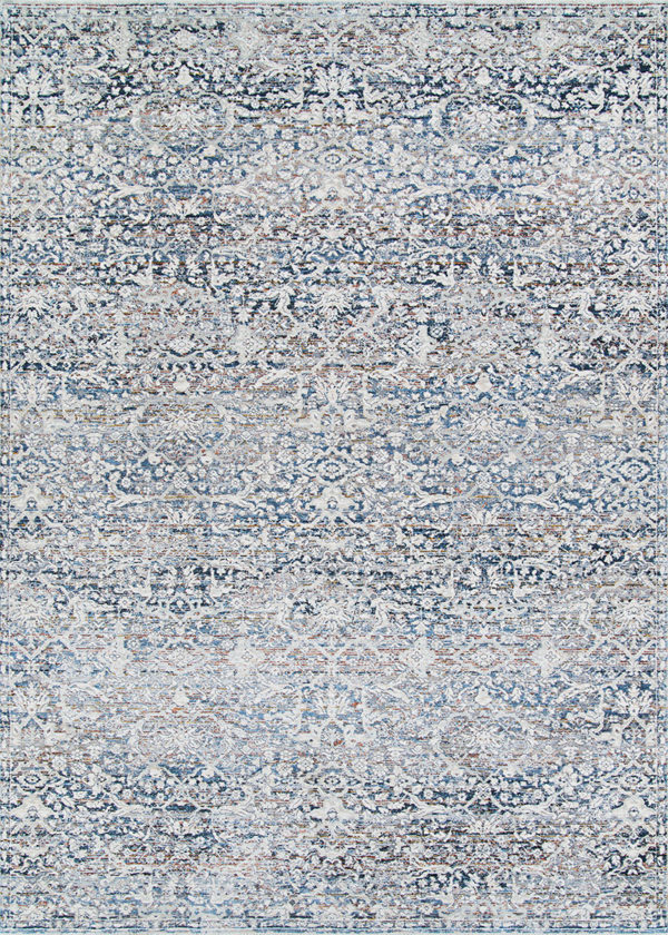 Nile Collection 4x6 Grey Transitional Area Rug