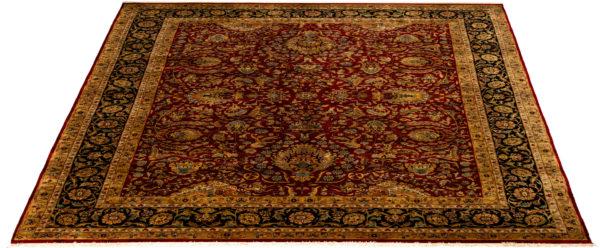 Indo Tabriz 9X12 Red Wool Area Rug