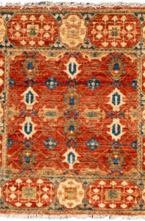 Afghan Faryab 2X3 Orange Wool Area Rug