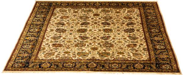 Indo Tabriz 8X10 Beige Wool Area Rug
