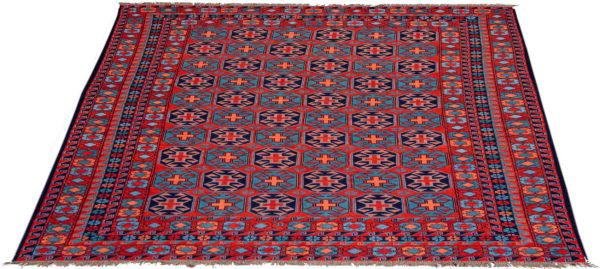 Afghan Soumak 8x10 Red Tribal Area Rug