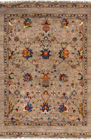 Afghanistan Khorjin 8x10 Taupe Wool Area Rug