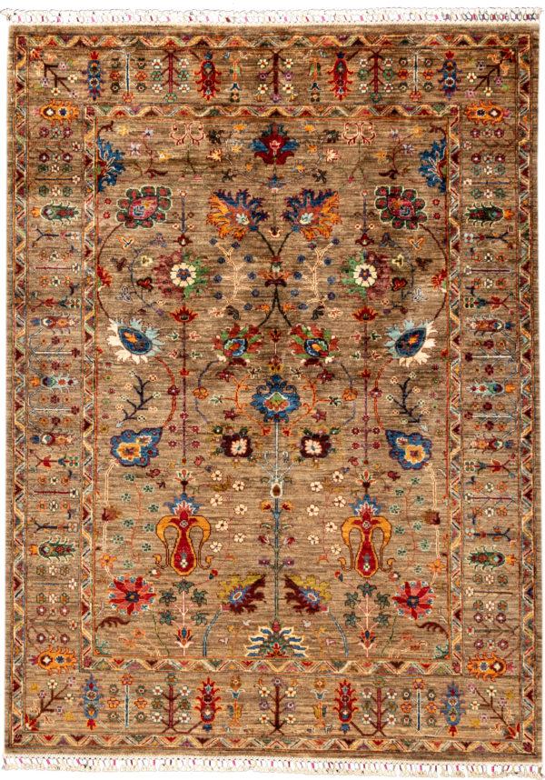 Afghanistan Khorjin 8x10 Beige Wool Area Rug